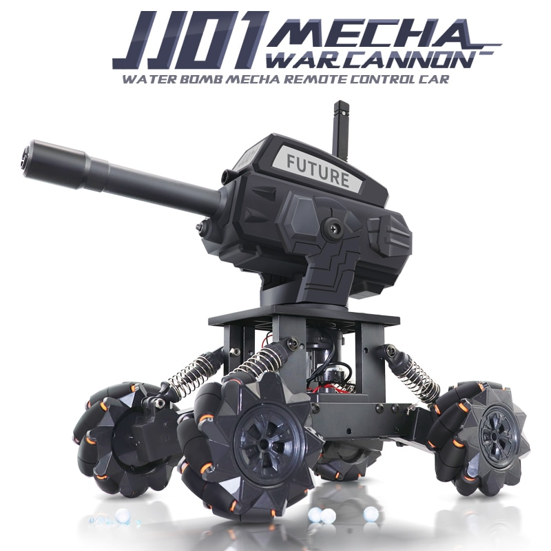 DIY 4WD Water Bomb Mecha RC Car Tank Toys For Kids Alloy Programming Remote Control Off-road Climbin