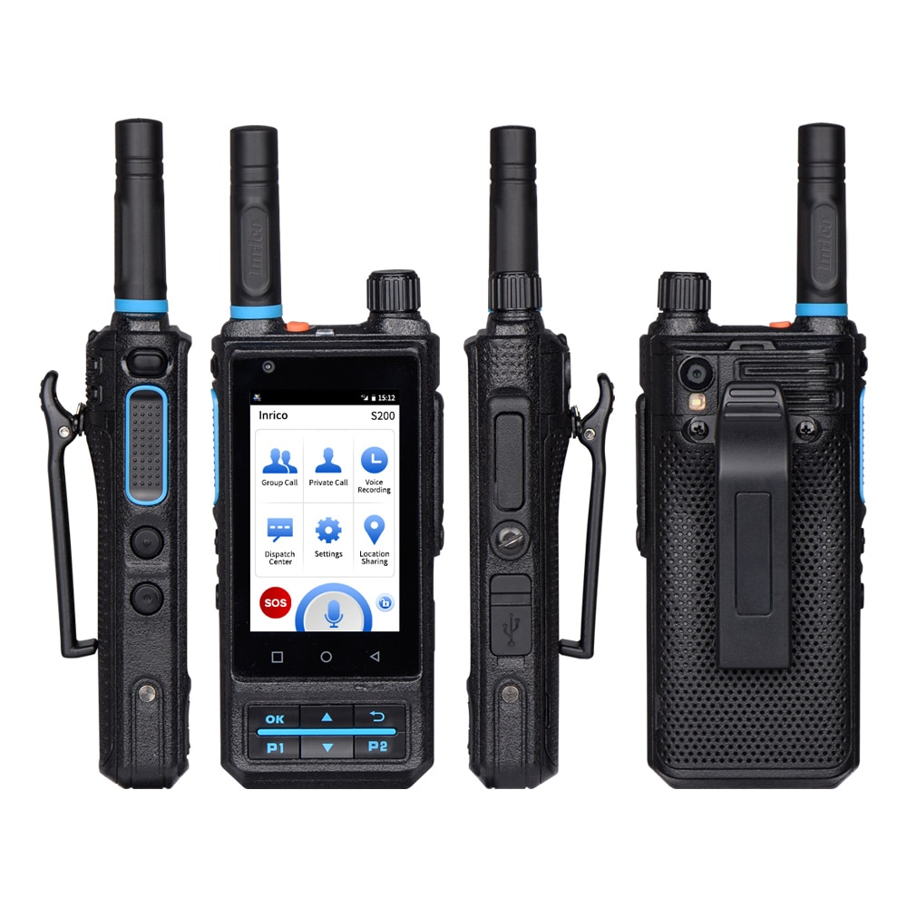 Inrico S200 Cheapest network account android walkie talkie GPS PTT phones 4G LTE/WCDMA/GSM walkie-talkie for basement subway