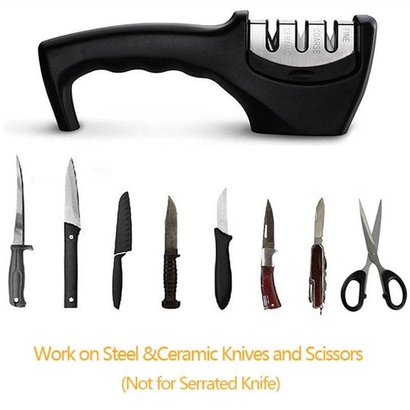 Stainless Steel Knife Sharpener Kitchen Diamond Sharpener Professional Whetstone Scissors Kitchen Knife Whetstone Gadgets Tool