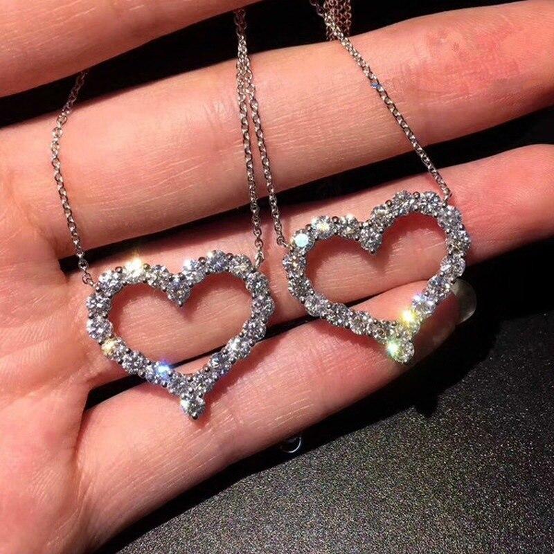 Ожерелье-женское-из-серебра-925-пробы-в-форме-сердца