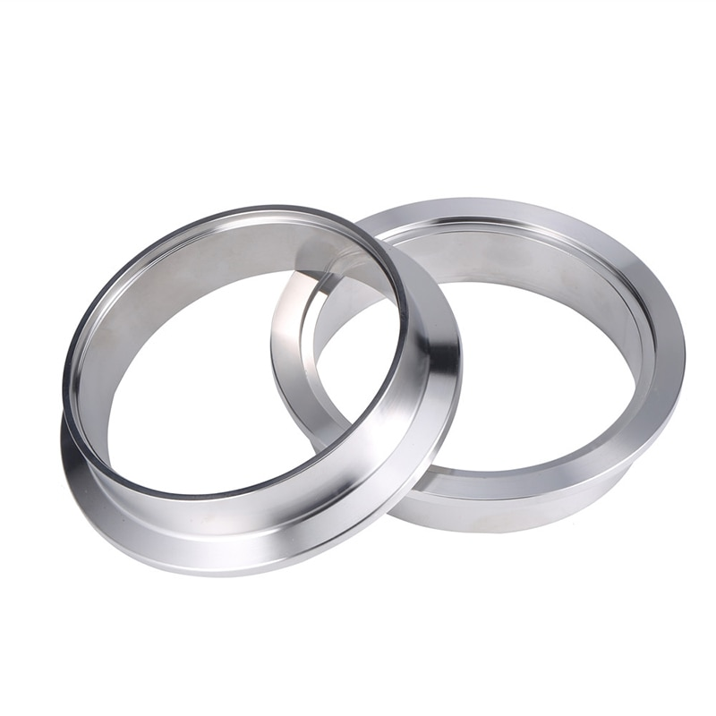 1.5/1.75 inch V-band Clamp Stainless Steel Exhaust Downpipe Clamp Flat Flange Assembly Male & Female Flange