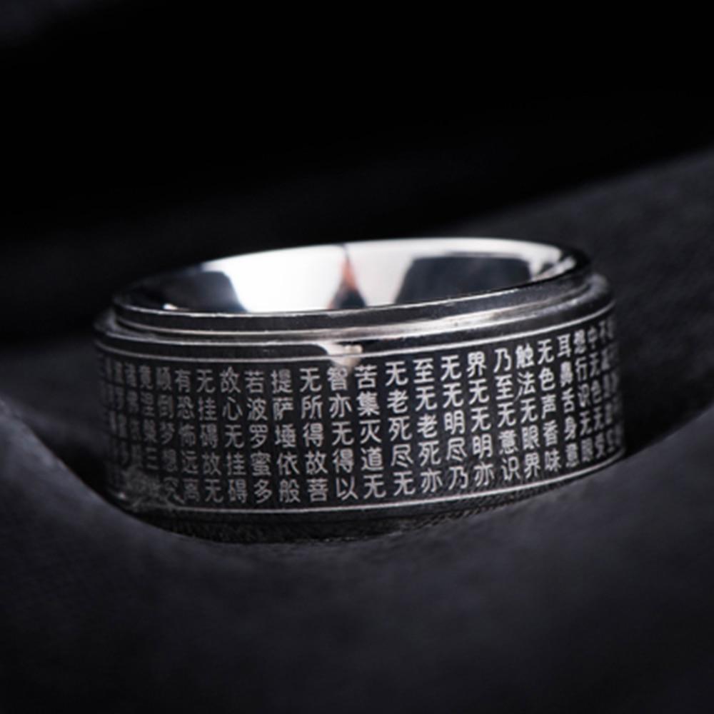Кольцо Будда в Великом сочувствии, Серебряное вертушка, вращающееся кольцо Zilver для мужчин, лечение, кольца из нержавеющей стали