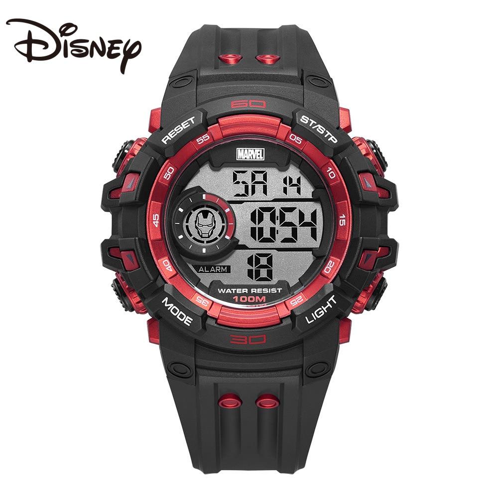 Disney Iron Man Watch 100m Waterproof Men's Sports Watch New Colorful Personalized Digital Watch Abcdefghijklmnabc  Reloj