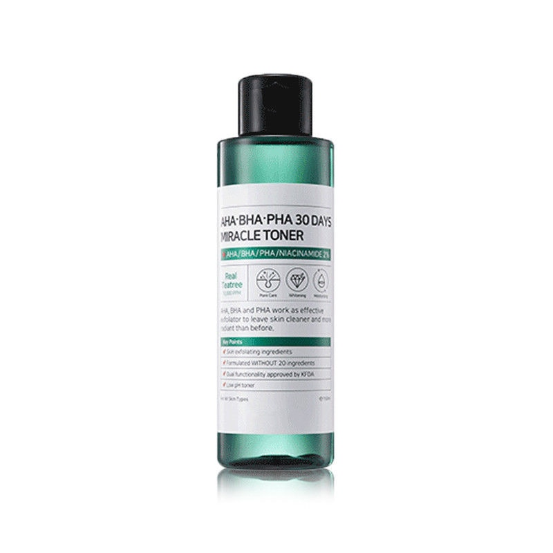 Xiao Mi Some 120ML 30Day Rou Shun Miracle Toner AHA BHA PHA By Peeling Blackhead Treat Acne Exfoliating Facial Care Serum