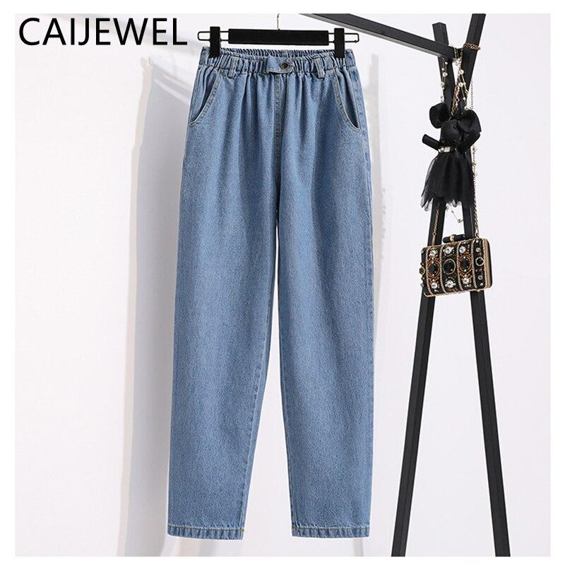 Женские джинсы уличной эластичный высокого качества с эластичной резинкой на талии, джинсовые штаны в винтажном стиле; Повседневная одежда...
