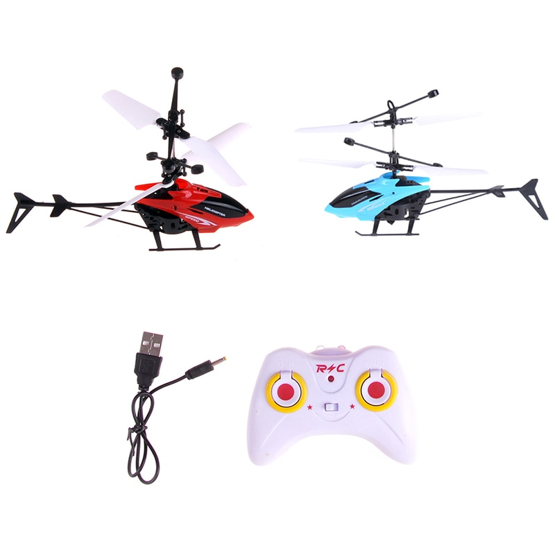 Kids Gift RC Helicopter Mini Drone With Crash Gyro Resistant Toys For Boy Flying