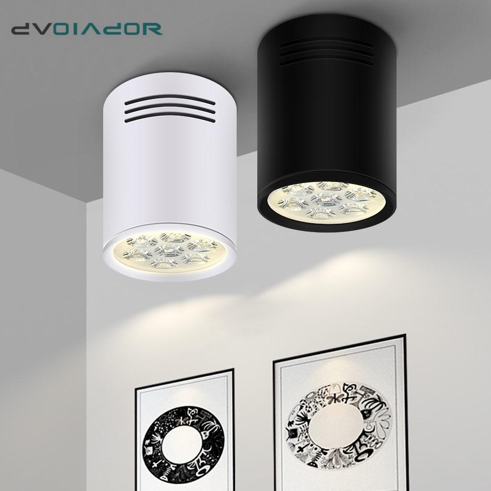 Поверхностного монтажа 12 Вт Светодиодный светильник 9 Вт 7 Вт потолочные лампы Cree Светодиодный точечный светильник Потолочные светильники Освещение + светодиодный драйвер