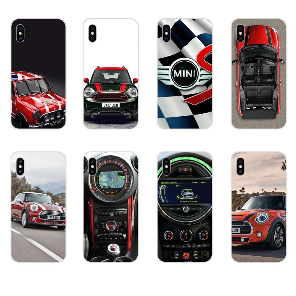 Mini Cooper SD TPU transparente cubierta de los casos para Apple iPhone X XS X Max XR 4 4S 5 5C 5S SE 6 6S 7 8 Plus