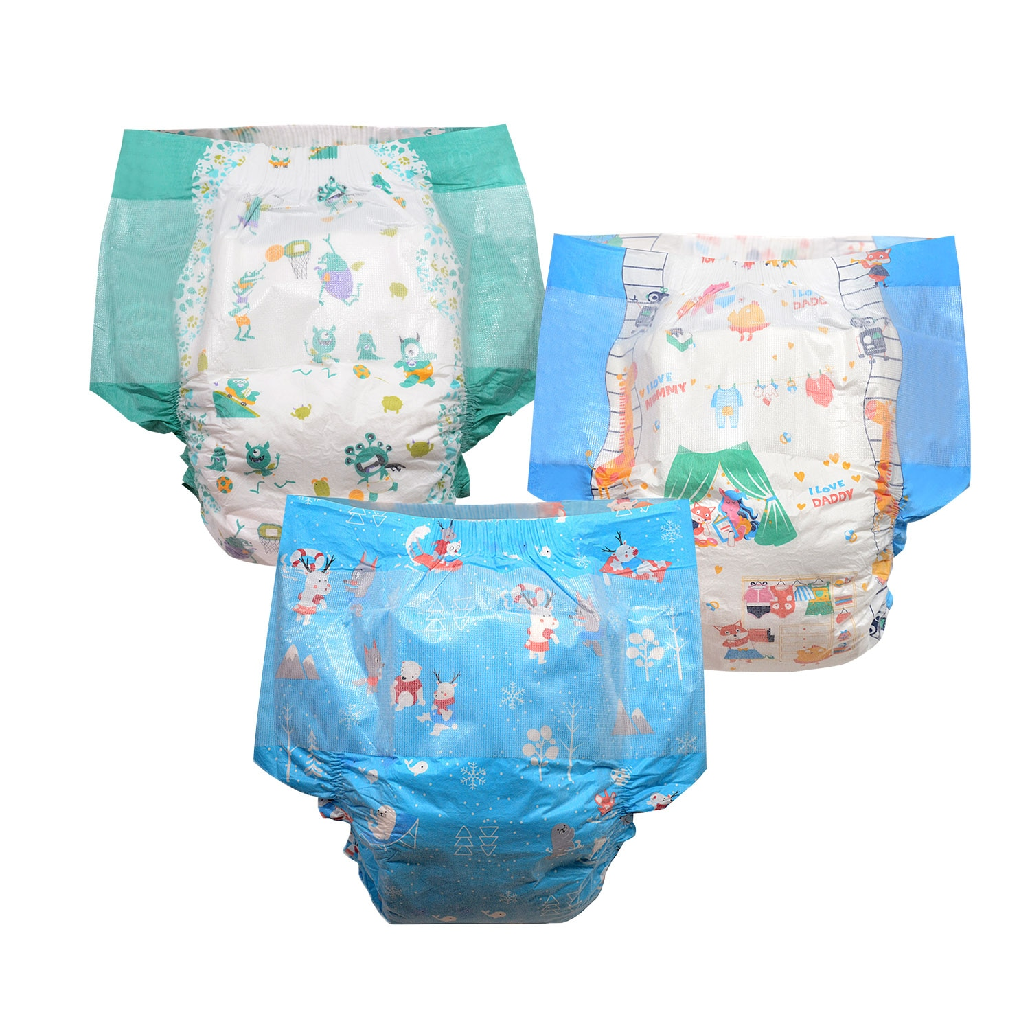 6pcs In A Pack - Rainbow Week Diaper ABDL Boy-Girl Style Extra Large Size Diaper 6000ml Stretchy Waist DDLG Diaper Dummy Dom