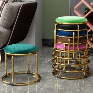 Small stool household small chair fashion shoes changing stool round stool adult sofa stool low stool creative small stool light