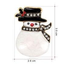 Chaude 2020 noël nouvel an bonhomme de neige broche chapeau Antique mode écharpe Corsage cadeaux broches exquis broches