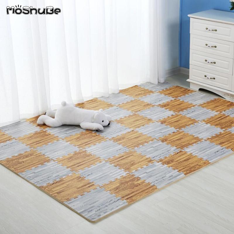 Rompecabezas de madera niños alfombra 30*30cm impermeable costura dormitorio piso suave gateando bebé juego estera juguetes para niños alfombra de