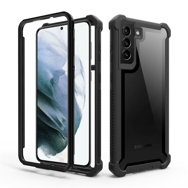 Heavy Duty Protection armor Phone Case for Samsung Galaxy S21 Note 20 S20 Ultra 8 9 S8 S9 S10 Plus L