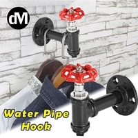 dm 1 2pcsset industrial style iron rack hanger creative water pipe towel rack wall mount coats hook decoration hotels cafe shop