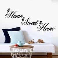 Citation douce autocollant Mural maison et papillon  papier peint vinyle pour salon  arriere-plan amovible  decoration murale  Art de la maison