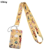 g1600 cartoon lanyard keychain keys badge id mobile phone rope neck straps with card holder cover