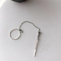 punk style hip hop sword one piece ring play cool chain pendants insert type personality trend ring ring