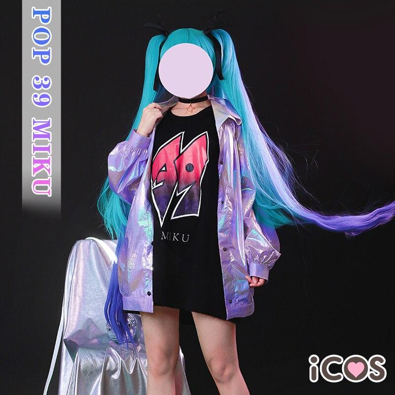 [Presale] Аниме Хацунэ Мику поп 39 Мику костюм для костюмированной вечеринки костюм Харадзюку в стиле киберпанк полный комплект повседневная одежда или одежда для ролевых игр