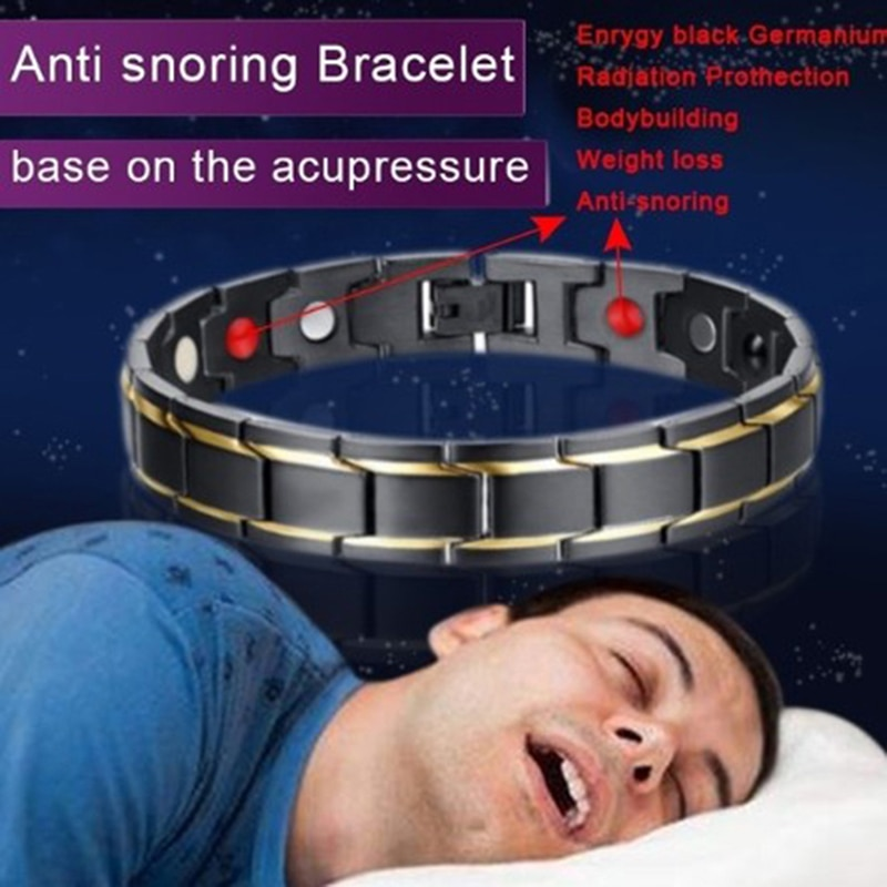 Magnetic Bracelet Anti-snoring Health Care Anti Snore Wrist Watch Sleep Snoring Couple magnetic brac