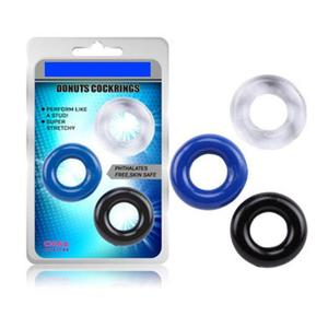 ORISSI 3Pcs Delaying Ejaculation Flexible Orgasm Cock Rings Glue Cockring Penis Ring for Men Sex Products Rings Male Sex Toys