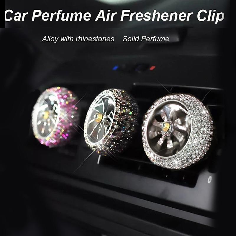 1 pçs carro refrogerador de ar diamante cristal força aérea auto ventilação de ar perfume clipe tomada condicionado difusor bling acessórios do carro