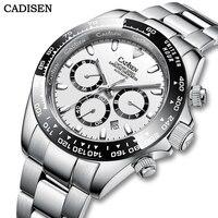 Автоматические Мужские часы CADISEN с отображением даты месяца, роскошный керамический циферблат, сапфировое стекло, механические наручные ча...