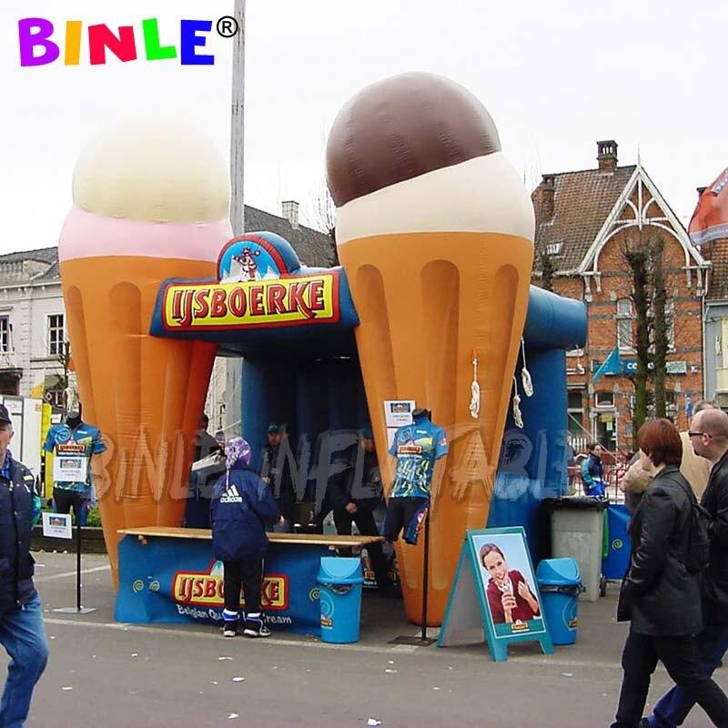 Portátil ligero Plaza inflable stand de helados/portátil inflable pop up stall/quiosco de la tienda para el comercio mostrar