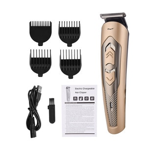 Men's Electric Hair Clipper Fine Tuning Titanium Alloy Blade Hair Trimmer Adjustable Hair Length Rechargeable Haircut Machine 42
