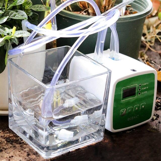 واحد/مزدوج مضخة ذكي الموقت نظام بالتنقيط الذكية جهاز سقي التلقائي لنظام أصائص زرع الحديقة