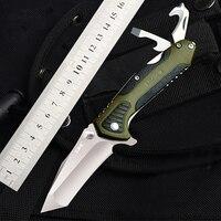 Многофункциональный складной нож Sanrenmu 7094, инструмент для повседневного использования на открытом воздухе, с ремнем, для резки стекла, откры...