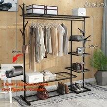 Appendiabiti in piedi stendibiancheria abbigliamento porta abiti con ripiani portaoggetti appendiabiti per mobili per la casa