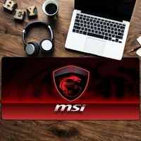 large mousepad non skid rubber of gamers gaming mouse pad laptop notebook desk mat for keyboard pad msi logo