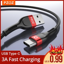 PZOZ usb c cable type c cable Fast Charging Data Cord Charger usb cable c  For Samsung s10 s9 A51 xi