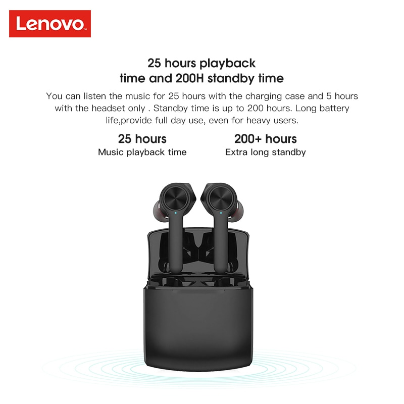 HT20 TWS True Wireless Earbuds Original Lenovo  with Extra bass Wireless Headphones Noise Cancelling Gaming Headset enlarge