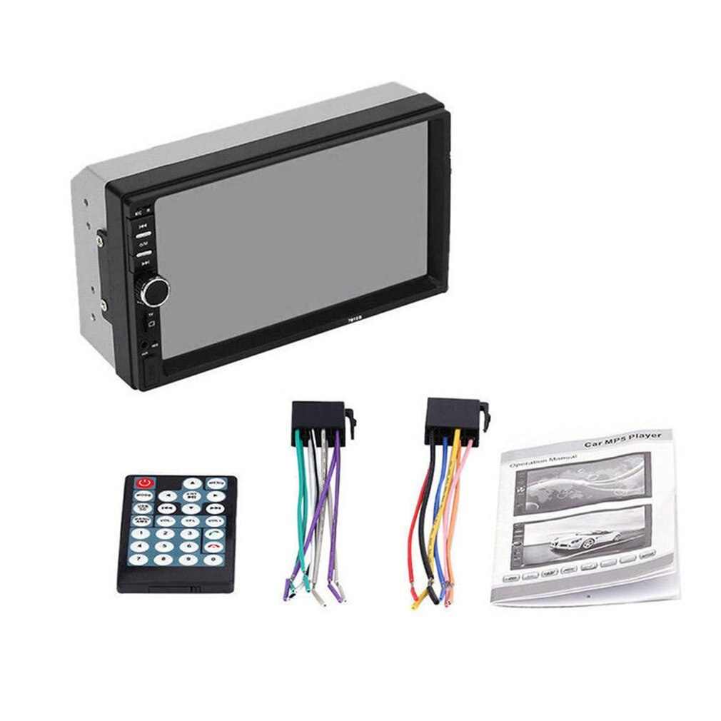 2 Din MP5 Player 7 Inch LCD Touch Screen Auto FM Radio Video Player Music Audio With USB Support Rea