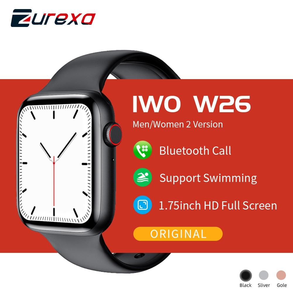Zurexa IWO W26 Smart Watch Men Women Dial Call Ip68 Waterproof IWO 12 Smartwatch Men Ecg PPG Pedometer Watches For Android IOS