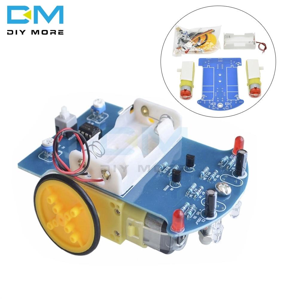 D2-1 Smart Robot Car Kits Intelligent Tracking Line Car Photosensitive Robot DIY Kit Patrol Automobi