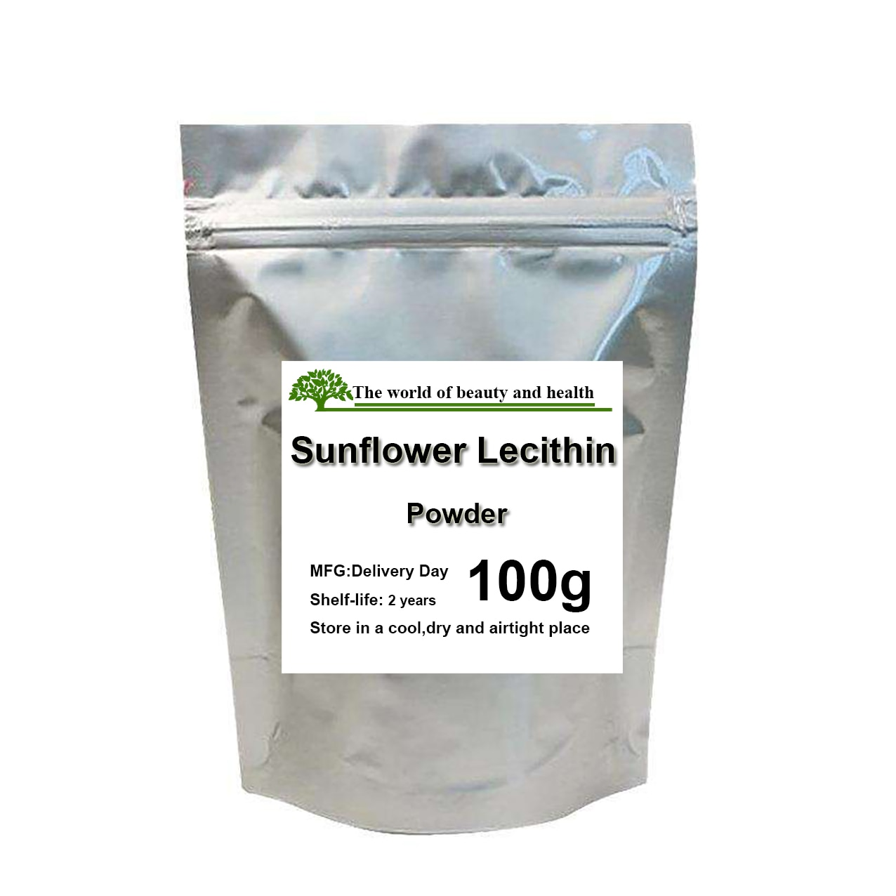 100% Pure Natural Sunflower Lecithin Powder
