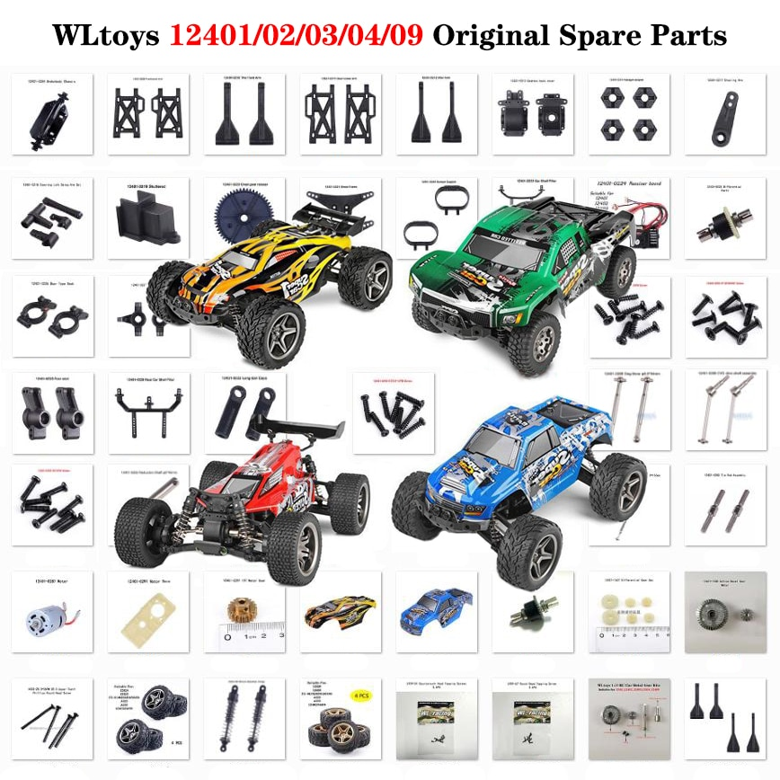 Wltoys RC автомобильные запчасти 1/12 RC автомобильные аксессуары 12401/12402/12402-A металлическая Шестерня/Мотор/рычаг/коробка передач/рулевой механизм...