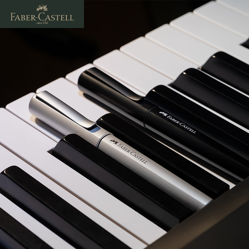 Faber Castell Metal Fountain Pen In Germany Hexo Series Ink Pen Black Silver Rose Gold Color Writing High Quality Fountain Pen