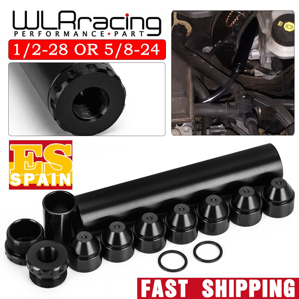 WLR-Aluminium 1/2-28 5/8-24 FÜR NAPA 4003 WIX 24003 Auto Kraftstoff Filter 1X6 Auto Lösungsmittel trap WLR-AFF01-6