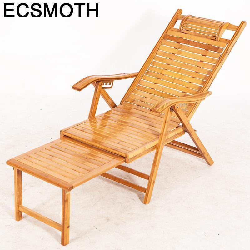 Grifos de bambú oscilantes Divani, Sillones de salón modernos Para Sala de estar, Cama Reclinable Plegable, sillón de salón