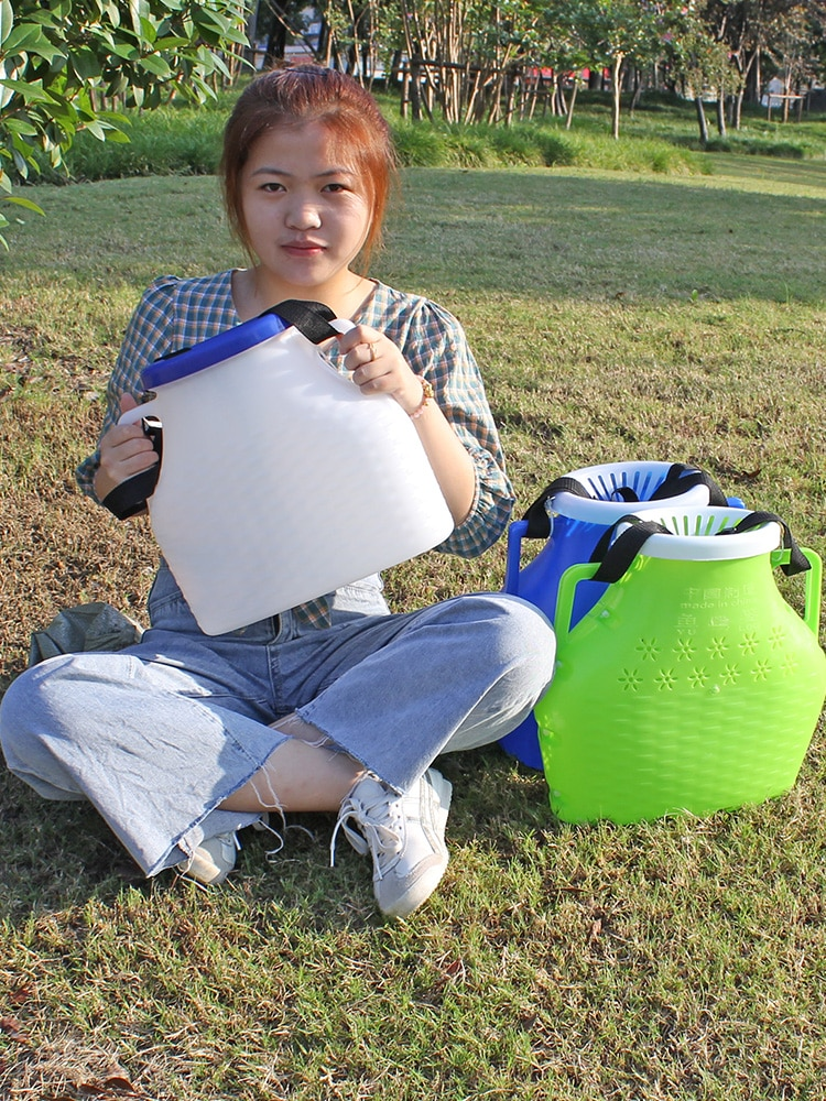 Plastic Fish Basket Fish Box Fish Protection Imitation Bamboo Ricefield Eel Live Fish Touch Catch Fishing enlarge