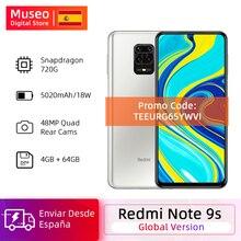 €24 OFF CODE TEEURG65YWVI Globalna wersja Xiaomi Redmi Note 9 S 4GB 64GB Snapdragon 720G 48MP AI Quad camera Smartphone uwaga 9 S 5020mAh