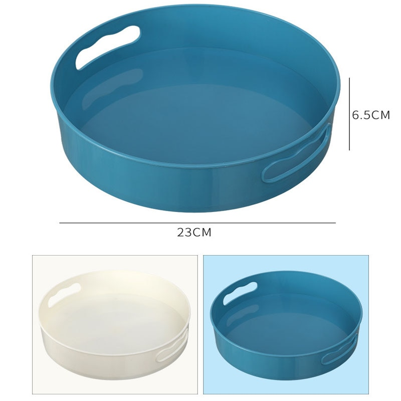 Купить с кэшбэком 360 Rotating Tray Turntable Kitchen Storage Containers for Spice Snack Fruit Food Plate Non Slip Bathroom Dried Storage Tray