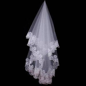 Women 120CM One Layer Lace Edge Wedding Veil Ivory Long Bridal Viel Wedding & Events Bridal Hair Accessories