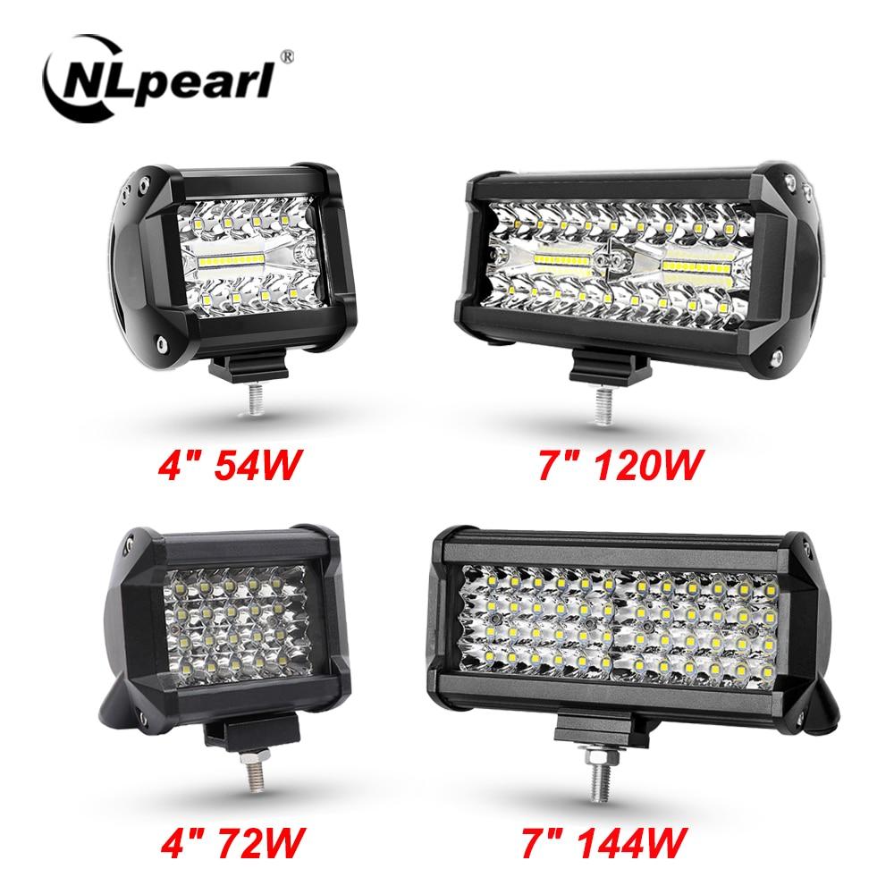 NLpear 12V 24V LED Bar Offroad Spot Flood Combo LED Light Bar/Work Light for Truck Car SUV 4WD 4x4 Boat ATV Barra LED Headlights