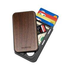 Nouveau porte-carte porte-carte en bois et Fiber de carbone porte-carte de luxe porte-carte en métal porte-carte porte-carte didentité porte-carte Rfid