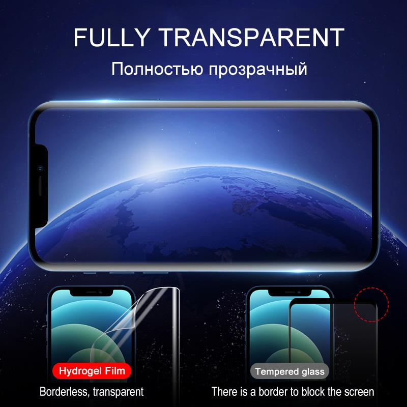 Transparent Hydrogel Film For Apple iPhone 12 Pro Max mini 11 XS XR X Screen Protector 7 8 Plus 6 6S SE 2020 Protective No Glass enlarge