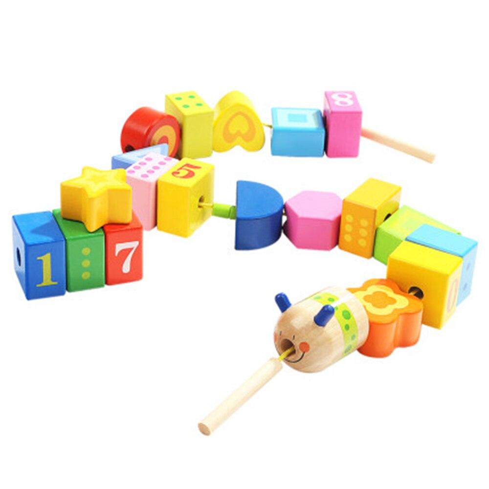 Детские игрушки-гирлянды, детские игрушки-конструкторы с бусинами, веревка для ношения раньше учить малыша, способность к координации рук и...
